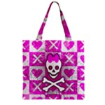 Skull Princess Zipper Grocery Tote Bag