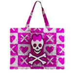 Skull Princess Zipper Mini Tote Bag