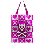 Skull Princess Zipper Classic Tote Bag