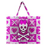 Skull Princess Zipper Large Tote Bag