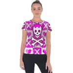 Skull Princess Short Sleeve Sports Top