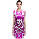 Skull Princess Sleeveless Velvet Midi Dress