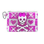 Skull Princess Canvas Cosmetic Bag (Medium)
