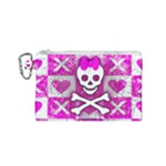 Skull Princess Canvas Cosmetic Bag (Small)