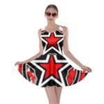 Star Checkerboard Splatter Skater Dress