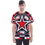 Star Checkerboard Splatter Men s Sports Mesh Tee