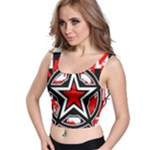Star Checkerboard Splatter Crop Top