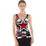 Star Checkerboard Splatter Tank Top