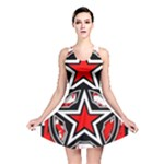 Star Checkerboard Splatter Reversible Skater Dress
