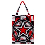 Star Checkerboard Splatter Classic Tote Bag