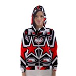 Star Checkerboard Splatter Women s Hooded Windbreaker