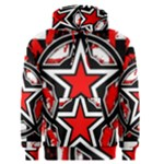 Star Checkerboard Splatter Men s Pullover Hoodie
