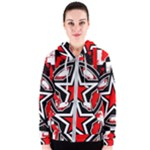 Star Checkerboard Splatter Women s Zipper Hoodie