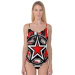 Star Checkerboard Splatter Camisole Leotard