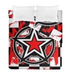 Star Checkerboard Splatter Duvet Cover Double Side (Full/ Double Size)
