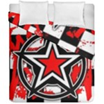 Star Checkerboard Splatter Duvet Cover Double Side (California King Size)
