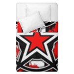Star Checkerboard Splatter Duvet Cover Double Side (Single Size)
