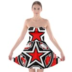 Star Checkerboard Splatter Strapless Bra Top Dress