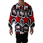Star Checkerboard Splatter Kids  Hooded Windbreaker