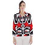 Star Checkerboard Splatter Women s Windbreaker