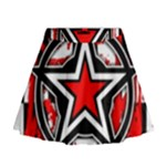 Star Checkerboard Splatter Mini Flare Skirt