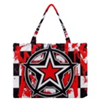 Star Checkerboard Splatter Medium Tote Bag