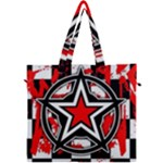 Star Checkerboard Splatter Canvas Travel Bag