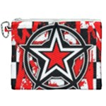 Star Checkerboard Splatter Canvas Cosmetic Bag (XXL)