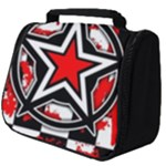 Star Checkerboard Splatter Full Print Travel Pouch (Big)
