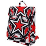 Star Checkerboard Splatter Flap Top Backpack
