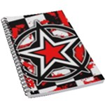 Star Checkerboard Splatter 5.5  x 8.5  Notebook