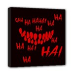 Demonic Laugh, Spooky red teeth monster in dark, Horror theme Mini Canvas 8  x 8  (Stretched)