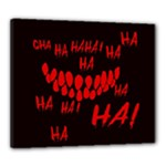 Demonic Laugh, Spooky red teeth monster in dark, Horror theme Canvas 24  x 20  (Stretched)