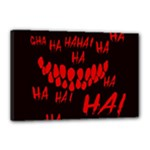 Demonic Laugh, Spooky red teeth monster in dark, Horror theme Canvas 18  x 12  (Stretched)