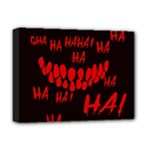 Demonic Laugh, Spooky red teeth monster in dark, Horror theme Deluxe Canvas 16  x 12  (Stretched)