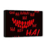 Demonic Laugh, Spooky red teeth monster in dark, Horror theme Deluxe Canvas 18  x 12  (Stretched)