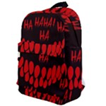 Demonic Laugh, Spooky red teeth monster in dark, Horror theme Classic Backpack