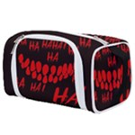 Demonic Laugh, Spooky red teeth monster in dark, Horror theme Toiletries Pouch