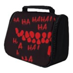Demonic Laugh, Spooky red teeth monster in dark, Horror theme Full Print Travel Pouch (Small)