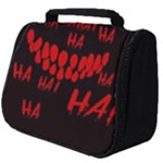 Demonic Laugh, Spooky red teeth monster in dark, Horror theme Full Print Travel Pouch (Big)