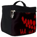 Demonic Laugh, Spooky red teeth monster in dark, Horror theme Make Up Travel Bag (Big)