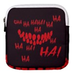 Demonic Laugh, Spooky red teeth monster in dark, Horror theme Mini Square Pouch