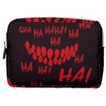 Demonic Laugh, Spooky red teeth monster in dark, Horror theme Make Up Pouch (Medium)