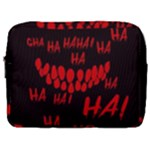 Demonic Laugh, Spooky red teeth monster in dark, Horror theme Make Up Pouch (Large)
