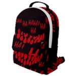 Demonic Laugh, Spooky red teeth monster in dark, Horror theme Flap Pocket Backpack (Small)