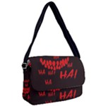 Demonic Laugh, Spooky red teeth monster in dark, Horror theme Courier Bag