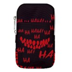 Demonic Laugh, Spooky red teeth monster in dark, Horror theme Waist Pouch (Large)