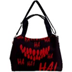 Demonic Laugh, Spooky red teeth monster in dark, Horror theme Double Compartment Shoulder Bag