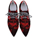 Demonic Laugh, Spooky red teeth monster in dark, Horror theme Pointed Oxford Shoes