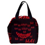 Demonic Laugh, Spooky red teeth monster in dark, Horror theme Boxy Hand Bag